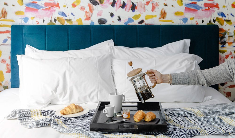 Breakfast in bed at a Putney Hotel